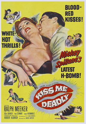 Mickey Spillane, Kiss Me Deadly Movie Poster